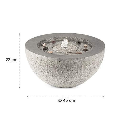 blumfeldt Genesis Gartenbrunnen - LED-Beleuchtung, für drinnen und draußen, 7W, Polyresin, UV- und frostbeständig, Loopflow Concept, 10 m Kabellänge, automatische Luftbefeuchtung, anthrazit - 9