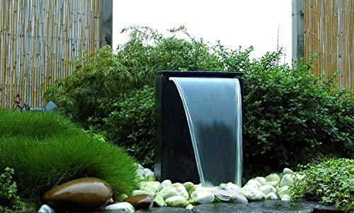 Großer Wasserfall Gartenbrunnen mit LED-Beleuchtung von Ubbink