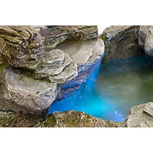 STILISTA Mystischer Gartenbrunnen Olymp Brunnen in Steinoptik 100x80x60cm groß Springbrunnen inkl. Pumpe und LED- Beleuchtung rot blau gelb grün - 6