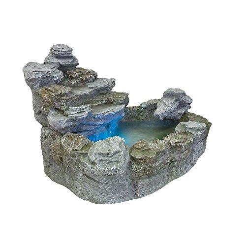 STILISTA Mystischer Gartenbrunnen Olymp Brunnen in Steinoptik 100x80x60cm groß Springbrunnen inkl. Pumpe und LED- Beleuchtung rot blau gelb grün - 9