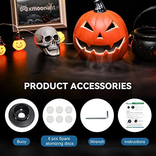 Mxmoonant 3 Head Ultrasonic Mist Maker Fogger Plastic Atomizer Air Humidifier 1500mL/H with 6 Spare Atomization Discs for Water Fountain Pond Aquarium Rockery Sink - 6