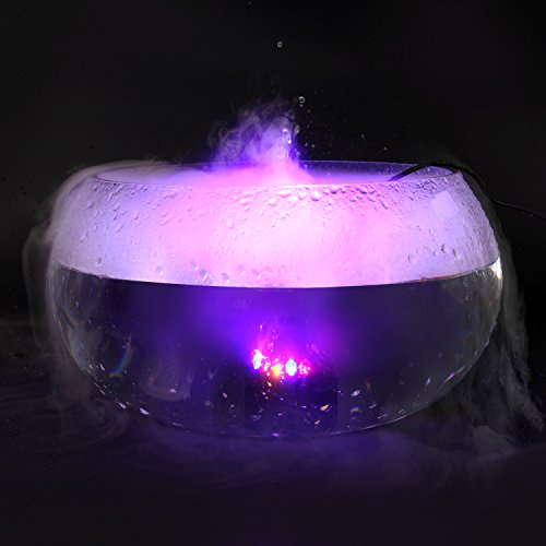 FITNATE Ultrasonic Fog Maker Machine Farbwechsel 12 LED Nebelgerät Springbrunnen Teich Nebel Zerstäuber Luftbefeuchter, für Halloween, Party - 4