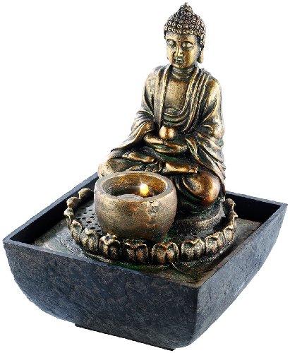 Beleuchteter Buddha Brunnen von infactory