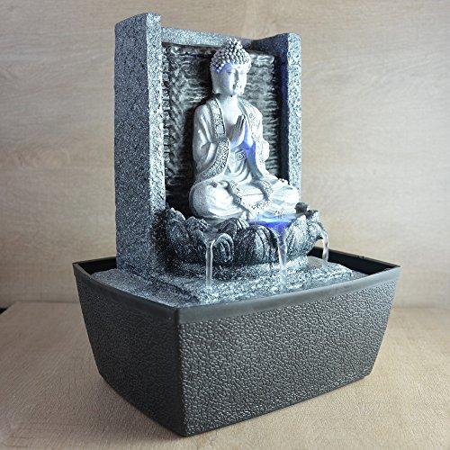 Zimmerbrunnen meditierender Buddha mit Beleuchtung - 2
