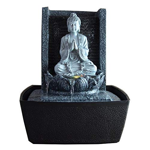 Zimmerbrunnen meditierender Buddha mit Beleuchtung - 3