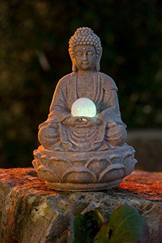 Tischbrunnen Buddha Lotus mit LED-Beleuchtung - 2