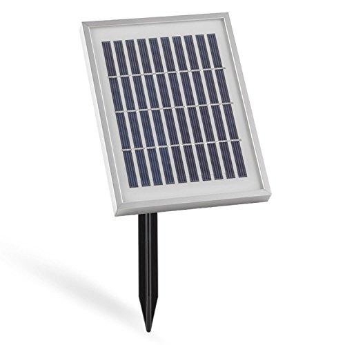 blumfeldt Zen Garden Zierbrunnen • Gartenbrunnen • Solarbrunnen • 200l/h Pumpleistung • IP68 Standard • 2 Watt Solarpanel • 300 cm² Photovoltaikfläche • integrierter Akku: 2000 mAh • schwarz - 5