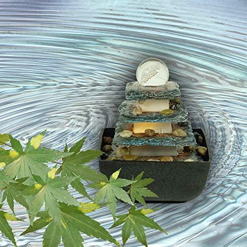 Zimmerbrunnen in Steinoptik mit Beleuchtung von Bella Vita Dapo