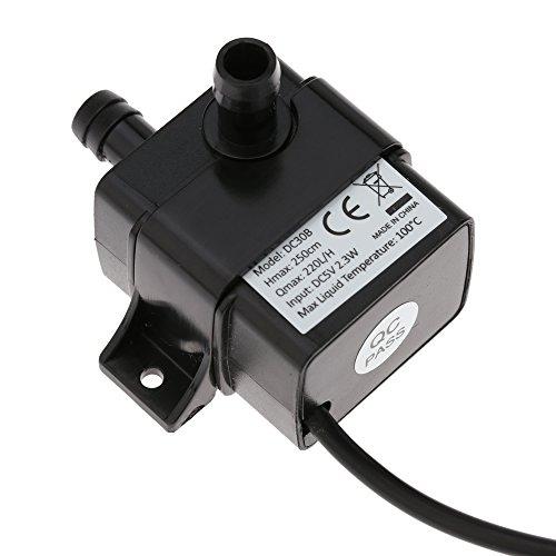 Decdeal USB Wasserpumpe Teichpumpe für Brunnen Aquarium und Modellbau 220L / H Auftrieb 250cm DC5V - 2