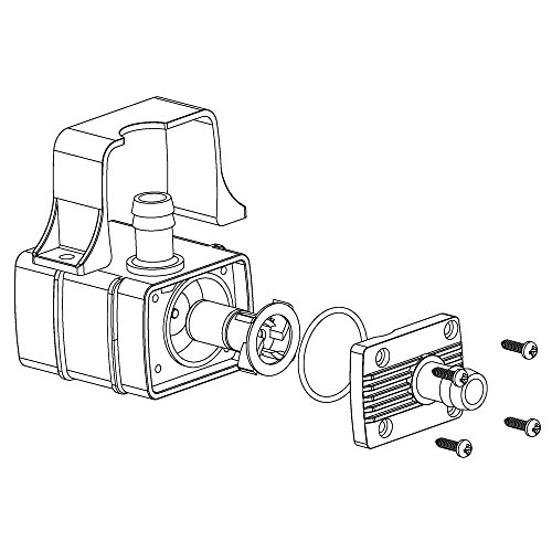 Decdeal USB Wasserpumpe Teichpumpe für Brunnen Aquarium und Modellbau 220L / H Auftrieb 250cm DC5V - 5