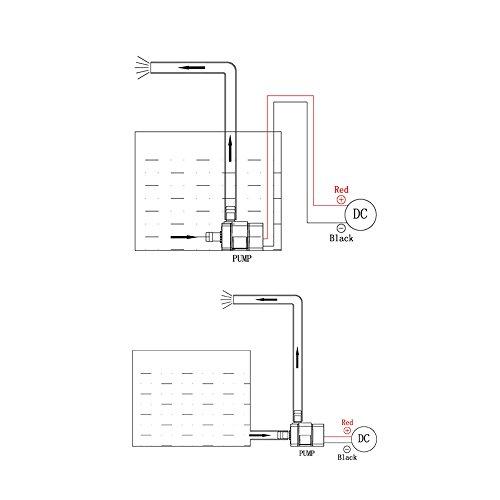 Decdeal USB Wasserpumpe Teichpumpe für Brunnen Aquarium und Modellbau 220L / H Auftrieb 250cm DC5V - 8