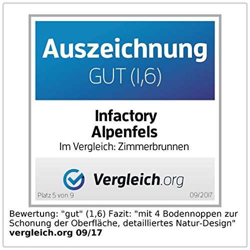 """Zimmerbrunnen """"Alpenfels"""" mit Beleuchtung und Pumpe - 4"""