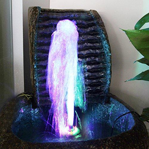TSSS 15W Unterwasser Wasserspielpumpe Wasser Pumpen Garten Tauchpumpen Brunnen Gartenteich Springbrunnen Pumpe LED Licht Beleuchtung - 2