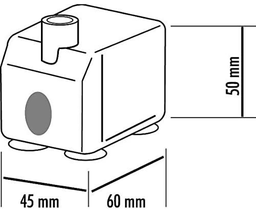 Seliger Indoorpumpe Pumpe 400 L mit Licht, 50 x 45 x 60 mm - 4