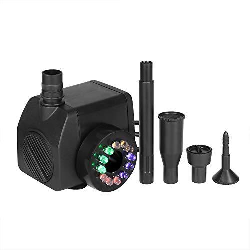 10W Unterwasser Wasserspielpumpe 500L / H mit LED Licht Beleuchtung - 8