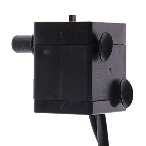 MagiDeal 2.5W 180L/H Aquarium Wasserpumpe Tauchpumpe Aquariumpumpe mit Licht, Schwarz - 5