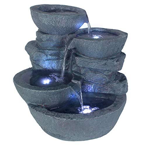 Springbrunnen Cascades mit LED-Beleuchtung von Arnusa