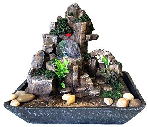 Beleuchteter Naturlandschaft Zimmerbrunnen mit beweglicher Glaskugel