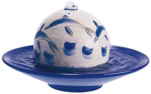 """Neumond Duftbrunnen """"Dolphins"""" mit Kugel in blau-türkis/grau und dunkelblauer Schale"""