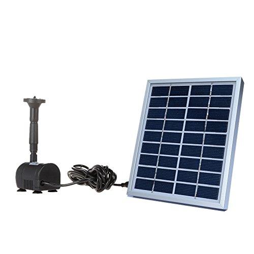 Decdeal Solar-Zimmerbrunnenpumpe mit Solarpanel 200 l/h