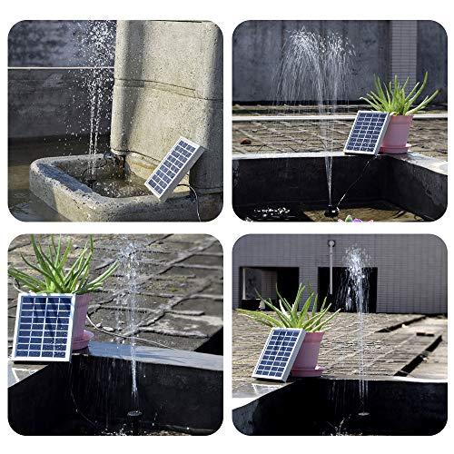 Decdeal 9V 2W Solar Teichpumpe Bürstenlose Solar-Brunnen Wasserpumpe mit Solarpanel  - 2
