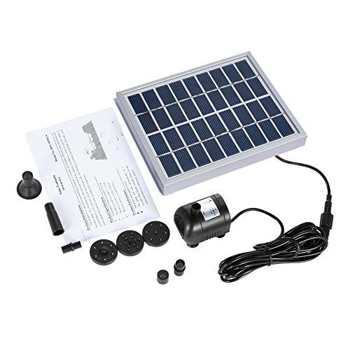 Decdeal Solar-Zimmerbrunnenpumpe mit Solarpanel 200 l/h - 7