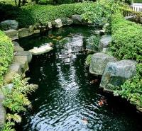 Bambusbrunnen japanischer Fischteich