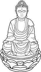 Zimmerbrunnen Buddha mit Figur und Wasserlauf