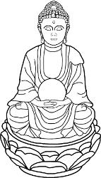 Zimmerbrunnen Buddha mit Figur, Wasserlauf und Kugel